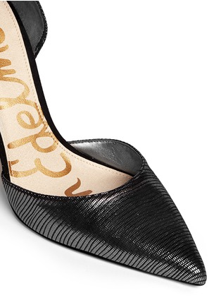 Detail View - Click To Enlarge - SAM EDELMAN - 'Delilah' textured-glossy leather pumps
