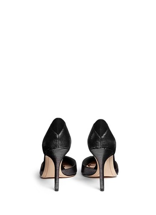 Back View - Click To Enlarge - SAM EDELMAN - 'Delilah' textured-glossy leather pumps