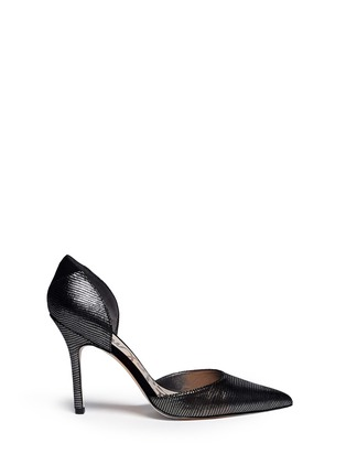 Main View - Click To Enlarge - SAM EDELMAN - 'Delilah' textured-glossy leather pumps