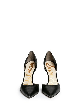 Figure View - Click To Enlarge - SAM EDELMAN - 'Delilah' textured-glossy leather pumps