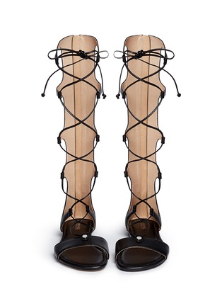 Front View - Click To Enlarge - Michael Kors - 'Sofia' leather gladiator sandals
