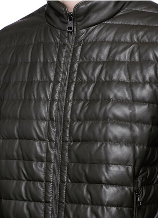Detail View - Click To Enlarge - Moncler - 'Geslin' quilted down leather jacket
