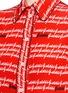 Detail View - Click To Enlarge - Gucci - Cursive logo print silk shirt