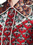 Detail View - Click To Enlarge - GUCCI - Metallic bee Western line jacquard coat