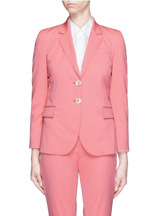 Main View - Click To Enlarge - Gucci - Wool-silk notched lapel jacket