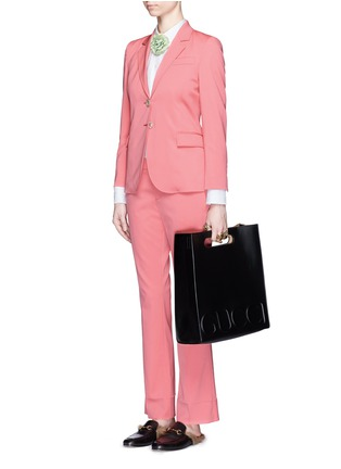 Figure View - Click To Enlarge - Gucci - Wool-silk notched lapel jacket