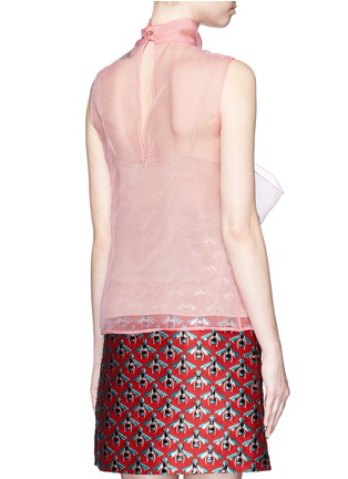 Back View - Click To Enlarge - Gucci - Pussybow silk organza sleeveless blouse