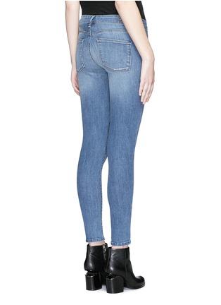 Back View - Click To Enlarge - Denham - 'Spray' active denim skinny jeans