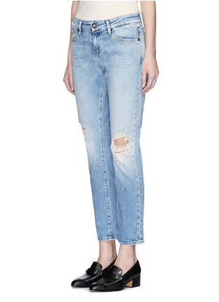 Front View - Click To Enlarge - DENHAM - 'Monroe' distressed jeans