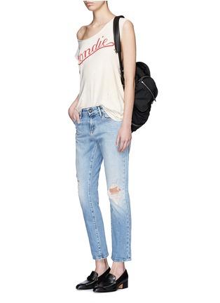 Figure View - Click To Enlarge - Denham - 'Monroe' distressed jeans