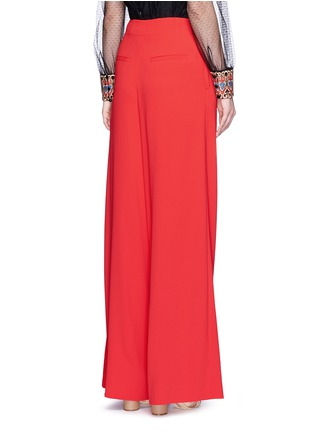 Back View - Click To Enlarge - alice + olivia - 'Eloise' double pleat wide leg pants