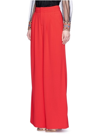 Front View - Click To Enlarge - alice + olivia - 'Eloise' double pleat wide leg pants