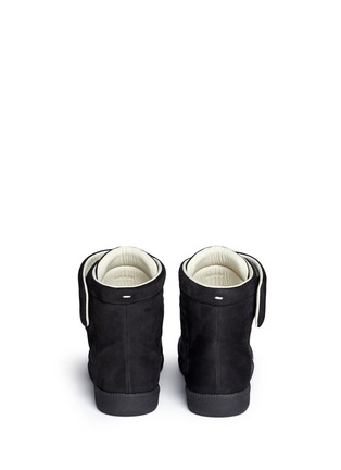 Back View - Click To Enlarge - MAISON MARGIELA SHOES - 'Future' dot gradient high top leather sneakers