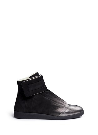 Main View - Click To Enlarge - MAISON MARGIELA SHOES - 'Future' dot gradient high top leather sneakers