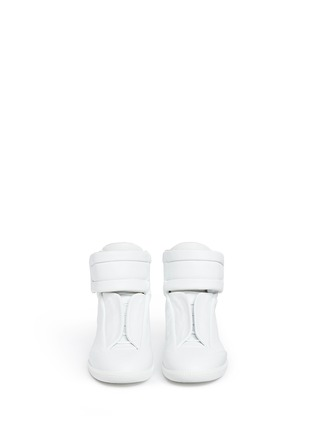 Front View - Click To Enlarge - MAISON MARGIELA SHOES - 'Future' high top leather sneakers
