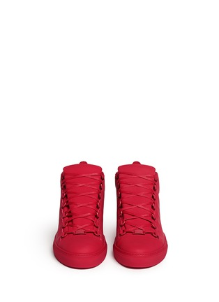 Front View - Click To Enlarge - Balenciaga - Gradient suede leather high top sneakers