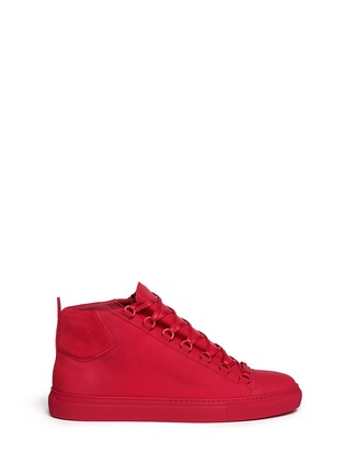 Main View - Click To Enlarge - Balenciaga - Gradient suede leather high top sneakers