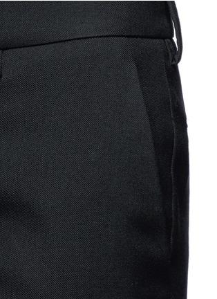 Detail View - Click To Enlarge - SAINT LAURENT - Virgin wool gabardine pants