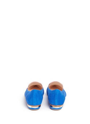 Back View - Click To Enlarge - Nicholas Kirkwood - 'Outliner Leia' suede patent leather combo loafers