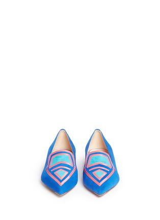 Front View - Click To Enlarge - Nicholas Kirkwood - 'Outliner Leia' suede patent leather combo loafers