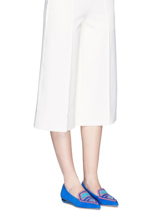 Figure View - Click To Enlarge - Nicholas Kirkwood - 'Outliner Leia' suede patent leather combo loafers