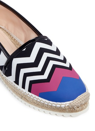 Detail View - Click To Enlarge - Nicholas Kirkwood - Chevron coated canvas espadrille slip-ons