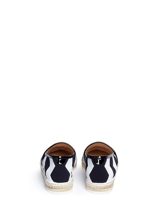 Back View - Click To Enlarge - Nicholas Kirkwood - Chevron coated canvas espadrille slip-ons