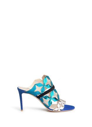 Main View - Click To Enlarge - Nicholas Kirkwood - 'Stella' star cutout metallic leather sandals