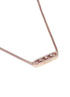 Messika 'Move Pavé' diamond 18k rose gold necklace