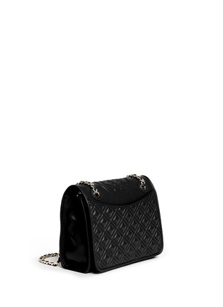 Front View - Click To Enlarge - Tory Burch - 'Fleming' medium quilted leather bag