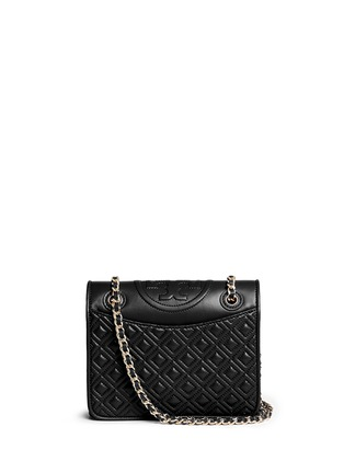 Main View - Click To Enlarge - Tory Burch - 'Fleming' medium quilted leather bag