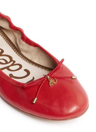 Detail View - Click To Enlarge - Sam Edelman - 'Felicia' leather ballet flats