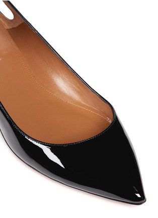 Detail View - Click To Enlarge - Aquazzura - 'Forever Marilyn' tassel patent leather flats