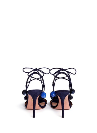 Back View - Click To Enlarge - Aquazzura - 'Disco Thing' sequin suede sandals