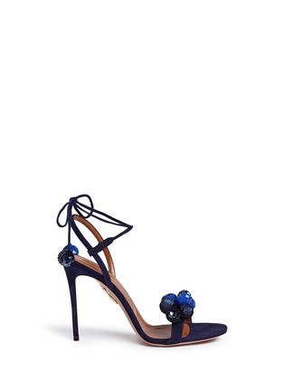 Main View - Click To Enlarge - Aquazzura - 'Disco Thing' sequin suede sandals
