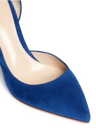 Detail View - Click To Enlarge - Gianvito Rossi - 'Biba Mid' suede d'Orsay pumps
