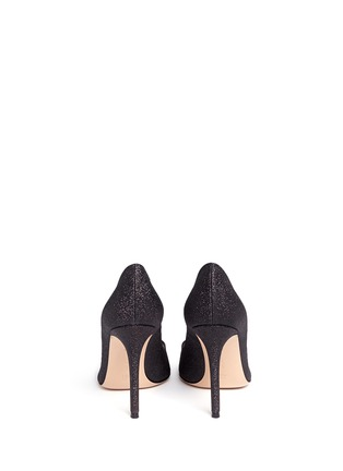 Back View - Click To Enlarge - Gianvito Rossi - 'Allie' metallic toe glitter pumps