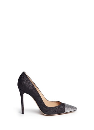 Main View - Click To Enlarge - Gianvito Rossi - 'Allie' metallic toe glitter pumps