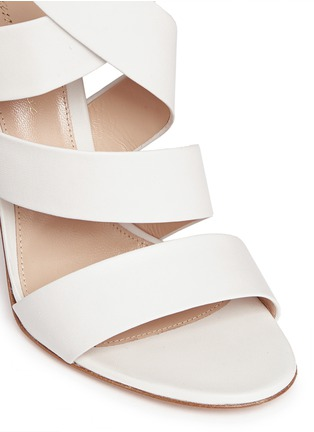 Detail View - Click To Enlarge - Gianvito Rossi - Cross strap nappa leather sandals