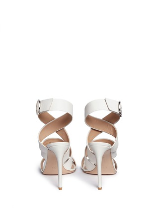 Back View - Click To Enlarge - Gianvito Rossi - Cross strap nappa leather sandals
