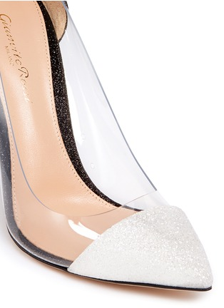 Detail View - Click To Enlarge - Gianvito Rossi - 'Plexi' clear PVC glitter pumps