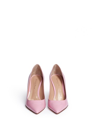 Front View - Click To Enlarge - Gianvito Rossi - '85' patent leather pumps