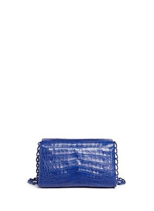 Back View - Click To Enlarge - NANCY GONZALEZ - Crocodile leather flap shoulder bag