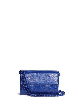 Main View - Click To Enlarge - NANCY GONZALEZ - Crocodile leather flap shoulder bag