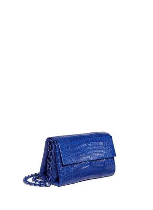 Figure View - Click To Enlarge - NANCY GONZALEZ - Crocodile leather flap shoulder bag