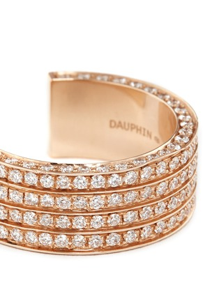 Detail View - Click To Enlarge - Dauphin - Diamond 18k rose gold four tier open ring