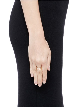 Figure View - Click To Enlarge - Dauphin - Diamond 18k rose gold five tier cutout ring