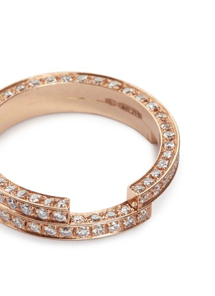 Detail View - Click To Enlarge - Dauphin - Diamond 18k rose gold two tier ring