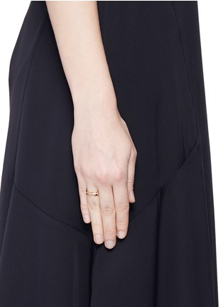 Figure View - Click To Enlarge - Dauphin - Diamond 18k rose gold three tier ring