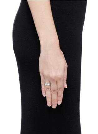 Figure View - Click To Enlarge - Dauphin - Diamond 18k white gold ring